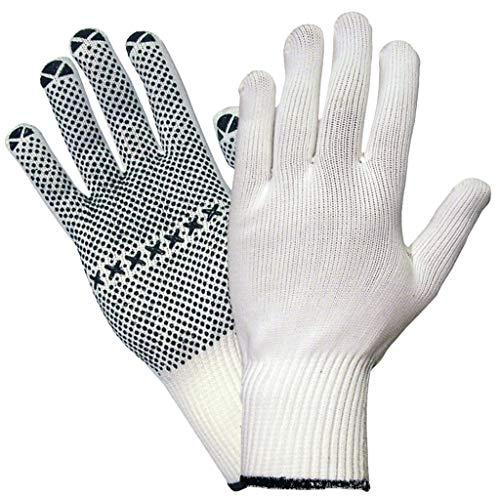 StrongAnt® - 12 PAAR NAMUR, 5-Fg. Arbeitshandschuhe - Sicherheitshandschuhe, Polyester/BW-Strick, Montagehandschuh - Größe: 10