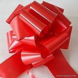 Wrappings and Bows GRANDE ROSSO SATINATO FINITO fiocchi da tirare