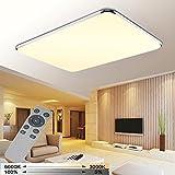 YESDA 72W LED Deckenleuchte Deckenlampe Badlampe Leuchte mit Fernbedienung Schlafzimmer