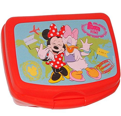 alles-meine.de GmbH Lunchbox / Brotdose -  Disney Minnie Mouse & Daisy  - großes Fach - SUPERLEICHT - Brotbüchse Küche Essen - aus Kunststoff - für Mädchen - Kinder - Vesperdos.. - Daisy Küche