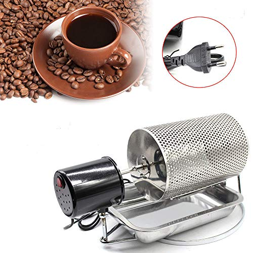 Z&Y Máquina de Tostador de café de Acero Inoxidable Frijoles Cacahuete Asador Tambor Horno Cesta 220V Máquina para tostar Tostador de café en Grano