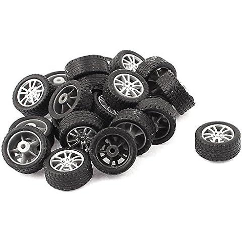 RC Smart Cars Camión Partes 18mm Plástico Eje Bote Neumático Rueda 20 PIEZAS
