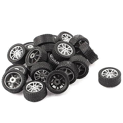 Sourcingmap RC intelligent voitures Truck pièces 18mm Plastique Moyeu de roue Drift Pneu Lot de