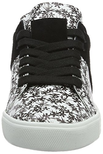 Kennel und Schmenger Schuhmanufaktur Town, Sneaker Basse Donna Mehrfarbig (white/black Sohle Schwarz)