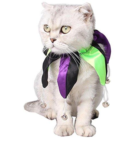 oween Zubehör Pet Clown Kragen Hund Katze Nähte Kragen Multicolor M ()