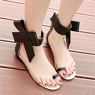 CH&TOU Da donna-Ballerine-Casual-Comoda-Piatto-Di pelle-Nero Rosso Tessuto almond black