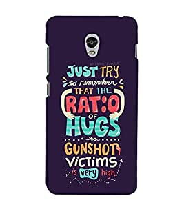FUSON Just Try Ratio Hugs 3D Hard Polycarbonate Designer Back Case Cover for Lenovo Vibe P1 :: Lenovo Vibe P1 Turbo :: Lenovo Vibe P1 Pro