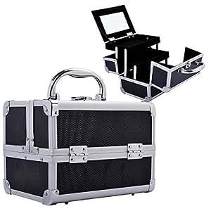 outsunny make up koffer beauty case kleiner koffer f r kosmetikprodukte schmuck schminke. Black Bedroom Furniture Sets. Home Design Ideas
