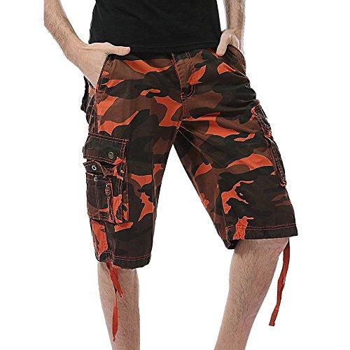 Herren Herren Freizeit Camouflage Pocket Beach Work Kurze Hose Cargo Shorts Hose,Männer Casual Kurze Hose Shorts dünne Passform Denim Kurze Hosen Herren