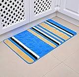 Knbob Vorleger Teppich Streifen Blau Wc Teppich Einzeln 50X80Cm