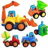 Unbekannt FEI Babyspielzeug Engineering Auto Spielzeug Set Kombi Mixer Bulldozer Dump Truck Traktor Truck Kind Auto Frühe Erziehung