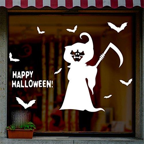 Stazsx Moderne kreative Wandtattoos & Wandbilder Halloween Wall Sticker Glas Fenster Aufkleber horror Dekoration wand Aufkleber Halloween gespenst Hexe wand Aufkleber, kleinen - Wallpaper Live Horror Halloween