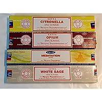 Satya Nag Champa Räucherstäbchen, Opium, Citronella, weißer Salbei, Meditation mit London Untersetzer von Sterling... preisvergleich bei billige-tabletten.eu