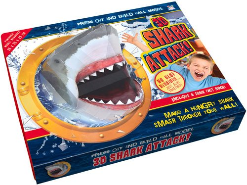 3d Shark Attack: Press Out and Build Wall Model
