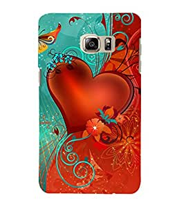 printtech Heart Floral flowers Back Case Cover for Samsung Galaxy Note 5 Edge::Samsung Galaxy Note 5 Edge 2