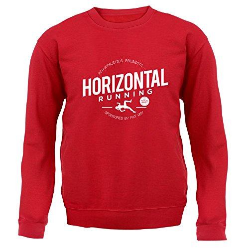 Horizontal Running- Fat Amy - Unisex Pullover/Sweatshirt - 8 Farben Rot