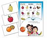 Bildkarten für den Deutschunterricht mit passendem Bingospiel - Obst - Für Kindergarten und Grundschule