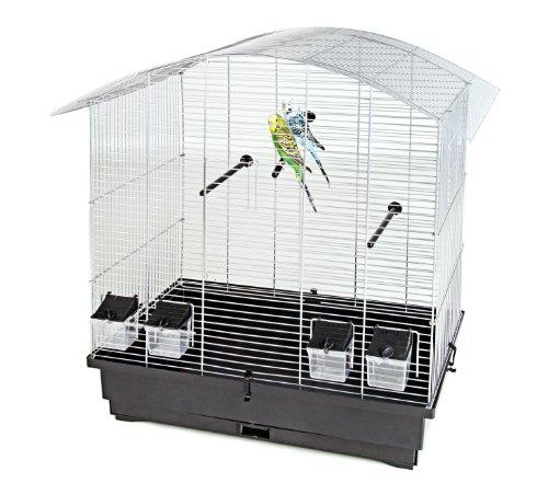 Pet-Product-Distribution-Wire-Bird-Cage-con-4-mangiatoie-x3-x-posatoivassoio-estraibile-70-x-425-x-69-cm-colore-Argento