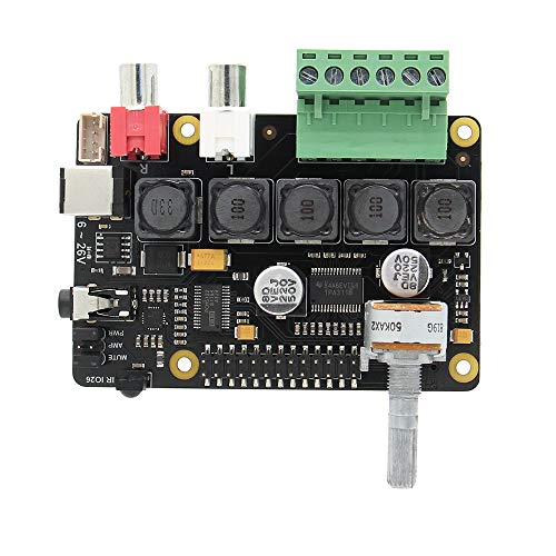 Raspberry Pi 3 B+ /3 A+ Full-HD DAC con I2S Class-D TI PCM5122 Amplificador,...