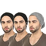 #9: Grabberry Men's Black & Grey Color Grabiel Cotton Cap for Men with Ring insert [Pack of 3 pcs]