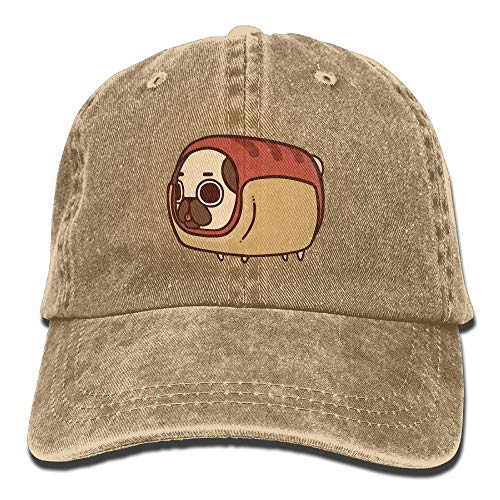 Feng Huang Puglie-Mops Vintage Washed gefärbte Baumwoll-Twill Low Profile verstellbare Baseball-Cap schwarz