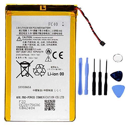 Ellenne Batteria Compatibile con Motorola FC40 Moto G3 3ª Gen XT1540 XT1541 AD Alta capacità 2470MAH con Kit SMONTAGGIO Incluso