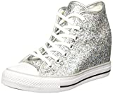 Converse - Converse Lux Mid Damenschuhe Silber Glitzer 552698C, Silber, 37.5 EU