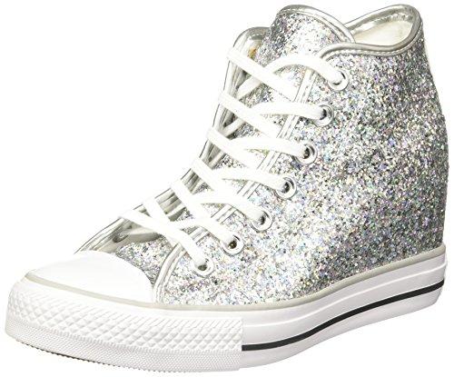 Converse donna Silver Glitter All Stars Mid Lux sneaker 36