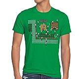 style3 Link Retro Gamer T-Shirt Herren, Größe:S;Farbe:Grün