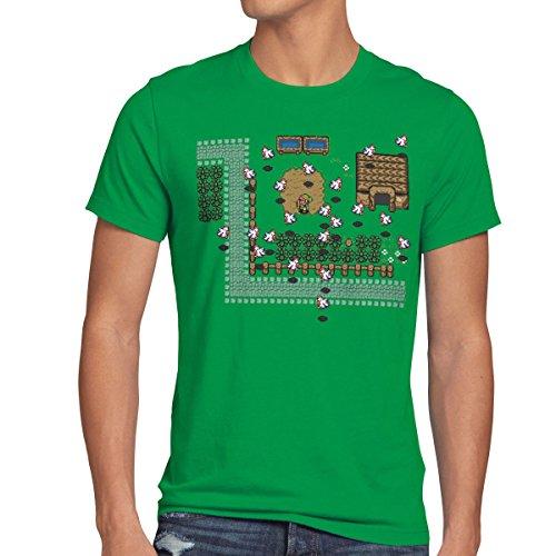 style3 Link Retro Gamer T-Shirt Herren, Größe:XL;Farbe:Grün
