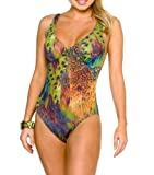 Amalfi Tan Through Support Top Swimsuit Size 12