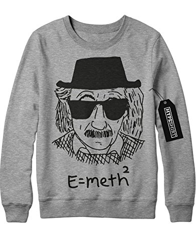 Lab Breaking Bad Kostüme (Sweatshirt Albert Einstein E=Meth² Crystal Meth Breaking Bad Walter White C980010 Grau)