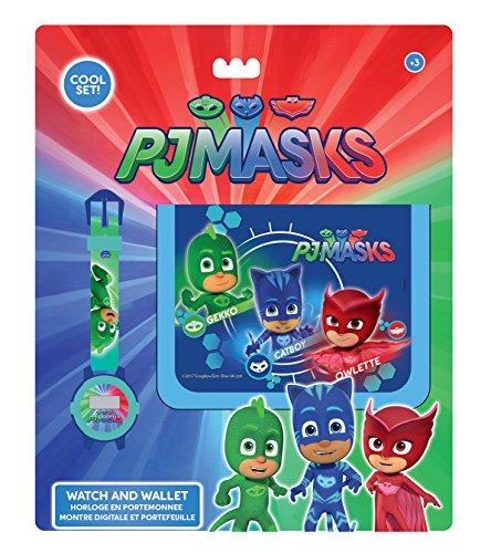 PJ Masks pjmasks–Set Orologio Digitale e Portafoglio, FCR 37626