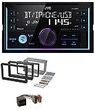 caraudio24 JVC KW-X830BT Aux 2DIN USB MP3 Bluetooth Autoradio für Alfa Romeo 159 Spider Brera ab 05 Navi