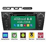 "eonon Android 8 Indash Car Digital Audio Video Stereo Autoradio 17,8 cm 7"" LCD Touchscreen CD DVD GPS Sat Nav Bluetooth FM AM RDS USB SD Headunit fit BMW E90 E91 E92 E93 GA9165B"