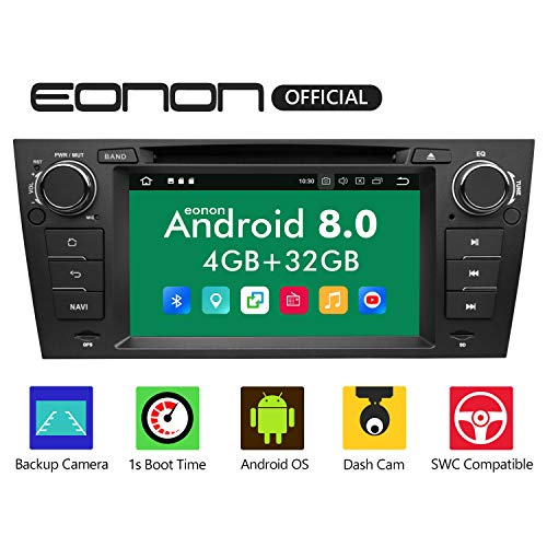 eonon Android 8 fit BMW E90 E91 E92 E93 2005 2006 2007 2008 2009 2010 2011 1Din 17,8 cm LCD Touchscreen Car Indash Digital Audio Video Stereo Autoradio DVD GPS FM RDS Bluetooth USB Headunit GA9165B 2006 Factory Radio