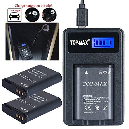 top-maxr-2x-en-el23-akku-batterie-1850mah-usb-ladegerat-mit-led-anzeige-zu-nikon-coolpix-b700-p900-p