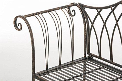 CLP Gartenbank JAMEE im Landhausstil, Eisen lackiert, ca. 130 x 45 cm Bronze - 6