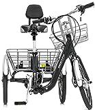 Monty Klappbares Elektro Dreirad für Erwachsene E132, Farbe:dunkelgrau Vergleich