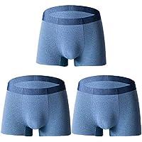 JIER Mens sin Costuras, elástico, de Secado rápido, Transpirable, Boxer, Breve, 3 Conjuntos de Ropa Interior