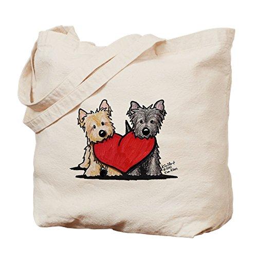 CafePress–Cairn Terrier Heartfelt Duo–Leinwand Natur Tasche, Reinigungstuch Einkaufstasche Tote M khaki