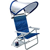 GCI Waterside Big Surf Reclining Beach Chair with Adjustable SunShade and Table