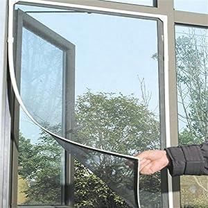 Ndier Magnetisches Moskitonetz für Fenster Moskitonetz mit Klett für Insektenschutz Fenstervorhang für Fenster 150x130cm