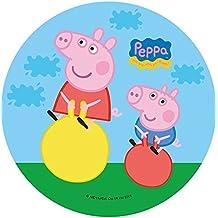 CIALDA in ostia PEPPA PIG personalizzabile forma rotonda diam. 20 cm, decorazione per torta