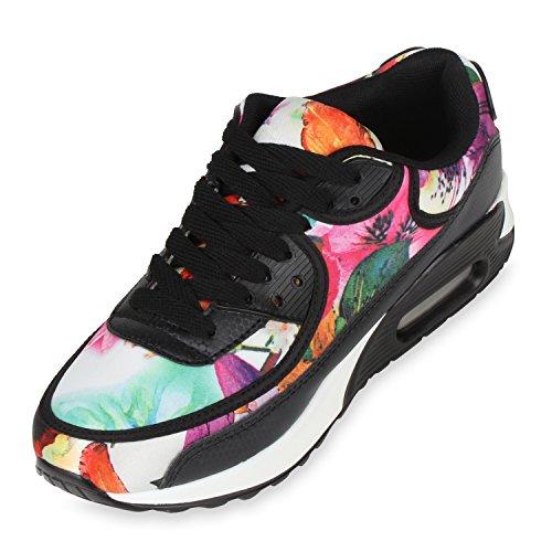 Sportschuhe Laufschuhe Sneakers Runners Herren Trendfarben Blumen Weiss Damen Unisex HxvapnC