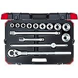 GEDORE red Steckschlüsselsatz 172 teilig 1/4', 5/16', 3/8' & 1/2' mit Umschaltknarre, Steckschlüssel und Bitsatz mit 3 Ratschen inkl. Zubehör