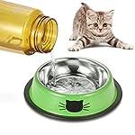 Comsmart Cat Bowl, Anti-slip Cat Food Bowl/Cat Feeding Bowl/Cat Water Bowl, Multi-purpose Double Pet Feeding Bowl (White… 13