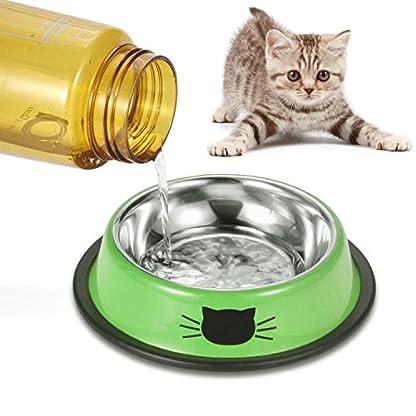 Comsmart Cat Bowl, Anti-slip Cat Food Bowl/Cat Feeding Bowl/Cat Water Bowl, Multi-purpose Double Pet Feeding Bowl (White… 6
