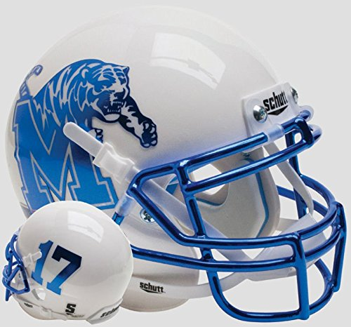 Schutt NCAA Memphis Tigers, Unisex, NCAA Memphis Tigers Mini Authentic XP Football Helmet, Alt. 8, Mini