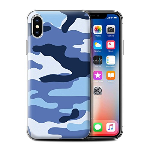 Coque de Stuff4 / Coque pour Apple iPhone 7 Plus / Blanc 2 Design / Armée/Camouflage Collection Bleue 2